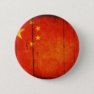 Chapa Redonda De 5 Cm Bandera china de madera