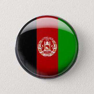 Chapa Redonda De 5 Cm Bandera de Afganistán