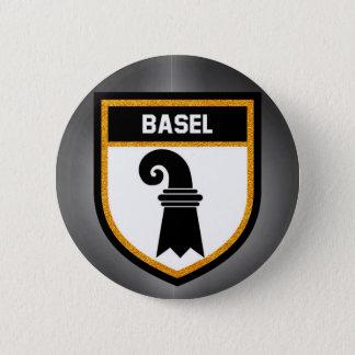Chapa Redonda De 5 Cm Bandera de Basilea