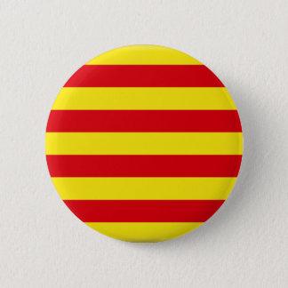 Chapa Redonda De 5 Cm Bandera de Cataluña (España)