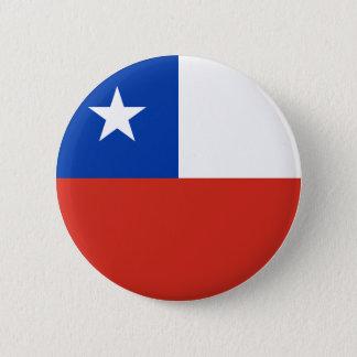Chapa Redonda De 5 Cm Bandera de Chile