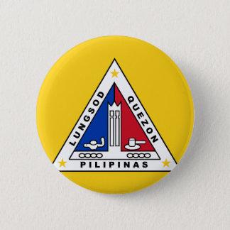 Chapa Redonda De 5 Cm Bandera de Ciudad Quezon, en las Filipinas