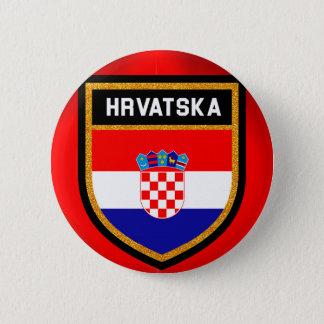 Chapa Redonda De 5 Cm Bandera de Croacia