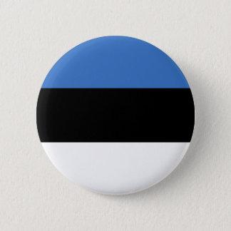 Chapa Redonda De 5 Cm Bandera de Estonia