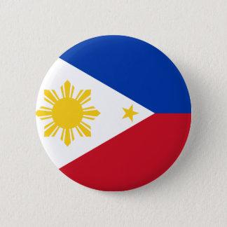Chapa Redonda De 5 Cm Bandera de Filipinas