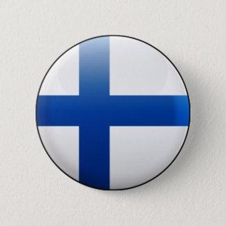 Chapa Redonda De 5 Cm Bandera de Finlandia