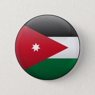 Chapa Redonda De 5 Cm Bandera de Jordania