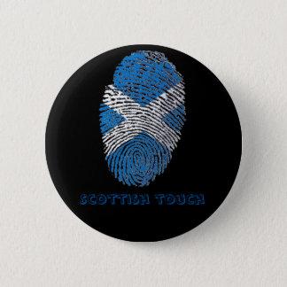 Chapa Redonda De 5 Cm Bandera de la huella dactilar del tacto del