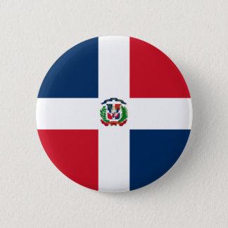 Chapa Redonda De 5 Cm Bandera de la República Dominicana en el Pin/la