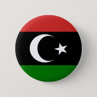 Chapa Redonda De 5 Cm Bandera de Libia pre-1977