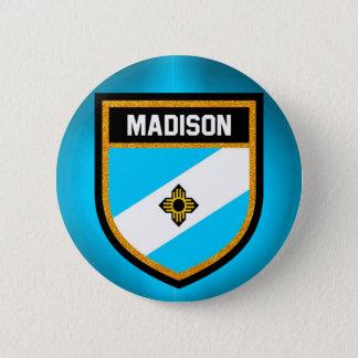 Chapa Redonda De 5 Cm Bandera de Madison
