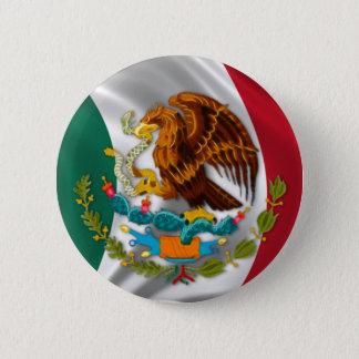 Chapa Redonda De 5 Cm Bandera de México, escudo de armas
