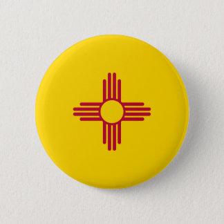 Chapa Redonda De 5 Cm Bandera de New México