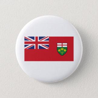Chapa Redonda De 5 Cm Bandera de Ontario
