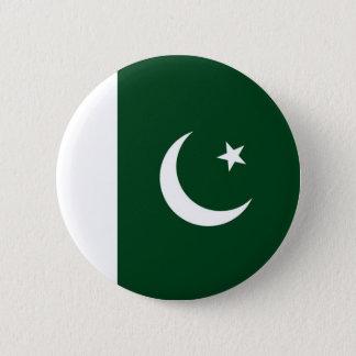Chapa Redonda De 5 Cm Bandera de Paquistán en el Pin/la insignia del