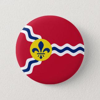 Chapa Redonda De 5 Cm Bandera de St. Louis, Missouri