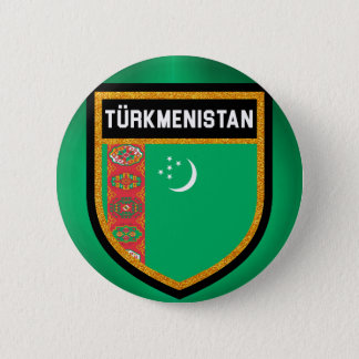 Chapa Redonda De 5 Cm Bandera de Turkmenistán