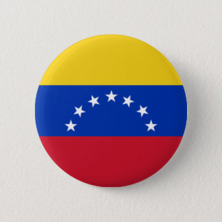 Chapa Redonda De 5 Cm Bandera de Venezuela, 7 Estrellas