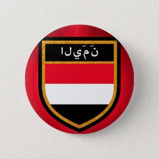 Chapa Redonda De 5 Cm Bandera de Yemen