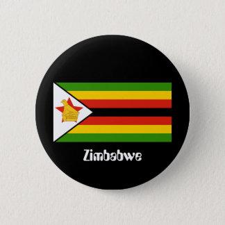 Chapa Redonda De 5 Cm Bandera de Zimbabwe