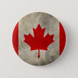 Chapa Redonda De 5 Cm Bandera del Grunge del vintage de Canadá