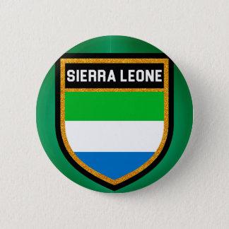 Chapa Redonda De 5 Cm Bandera del Sierra Leone