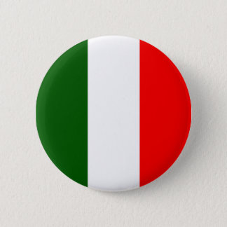 Chapa Redonda De 5 Cm Bandera italiana