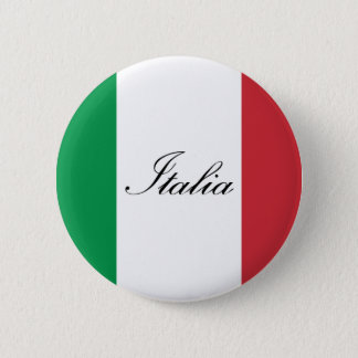Chapa Redonda De 5 Cm Bandera italiana - bandera de Italia - Italia