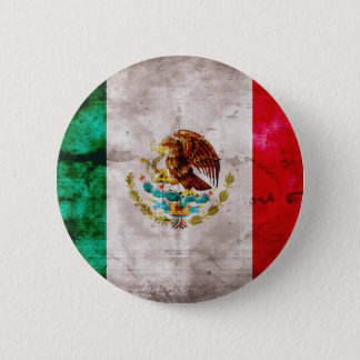 Chapa Redonda De 5 Cm Bandera mexicana resistida