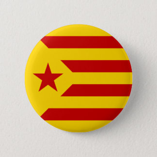 Chapa Redonda De 5 Cm Bandera protagonizada rojo de Cataluña