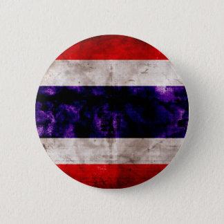 Chapa Redonda De 5 Cm Bandera resistida de Tailandia