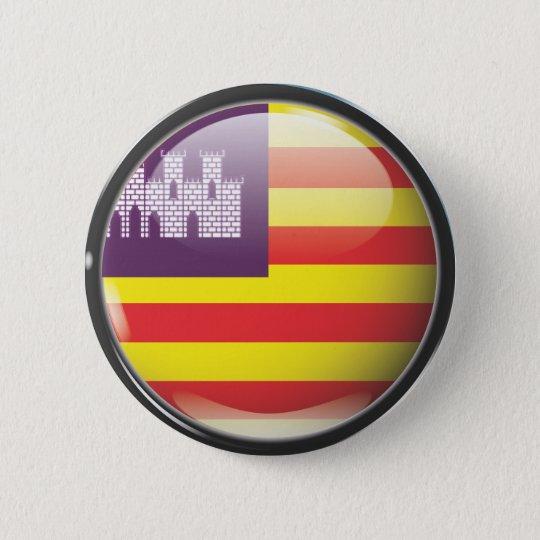 Chapa Redonda De 5 Cm Bandera y escudo de Islas Baleares
