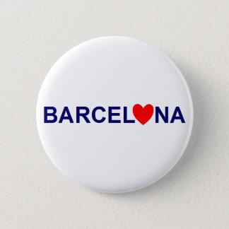 Chapa Redonda De 5 Cm Barcelona amor