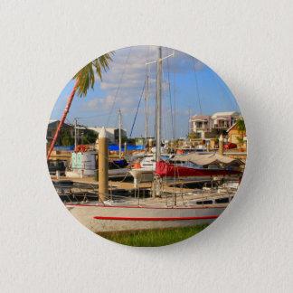 Chapa Redonda De 5 Cm Barcos en el puerto deportivo, Darwin, Australia