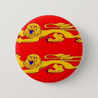 Chapa Redonda De 5 Cm Basse Normandie, bandera de Francia