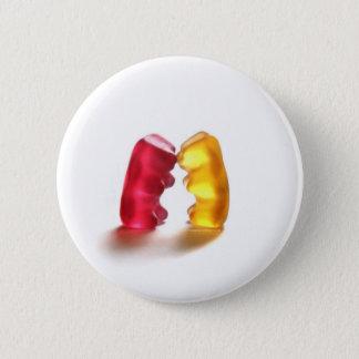 Chapa Redonda De 5 Cm beso gomoso del oso