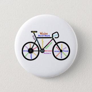 Chapa Redonda De 5 Cm Bici de motivación, ciclo, Biking, palabras del