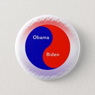 Chapa Redonda De 5 Cm ~ Biden Yin Yang de Obama