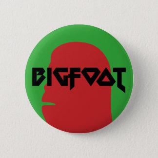 Chapa Redonda De 5 Cm Bigfoot hacen frente y la plantilla roja y negra