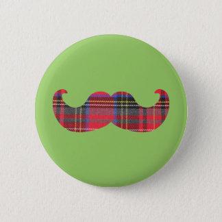 Chapa Redonda De 5 Cm Bigote escocés (o bigote del scottache)