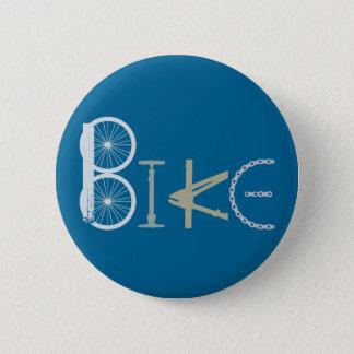 Chapa Redonda De 5 Cm Bike las palabras de la fan de deportes de la
