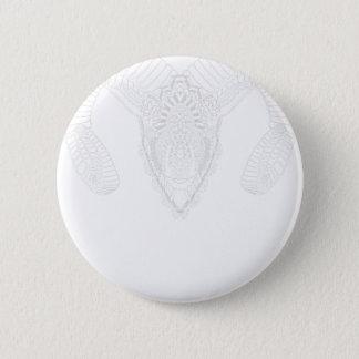 Chapa Redonda De 5 Cm Blanco del estilo de la mandala del dibujo del