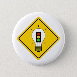 Chapa Redonda De 5 Cm Bombilla cambiante de la luz de parada a