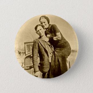 Chapa Redonda De 5 Cm Bonnie y Clyde - la cuadrilla de la carretilla