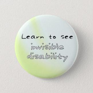 Chapa Redonda De 5 Cm Botón: Aprenda ver incapacidad invisible