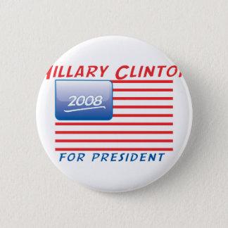Chapa Redonda De 5 Cm botón-Clinton