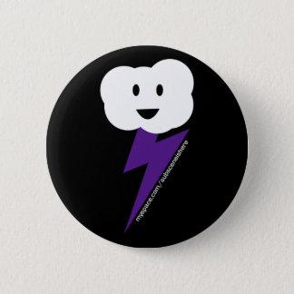 Chapa Redonda De 5 Cm ¡Botón de Cloud&Lightning!