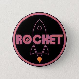 Chapa Redonda De 5 Cm ¡Botón de Rocket!