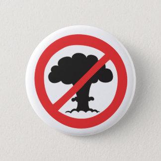 Chapa Redonda De 5 Cm Botón: símbolo anti de las armas nucleares