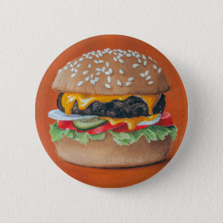 Chapa Redonda De 5 Cm Botones del ilustracion de la hamburguesa